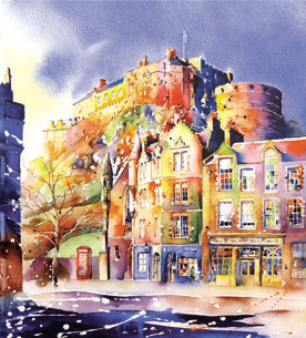 JPW226 Edinburgh Castle & The Grassmarket